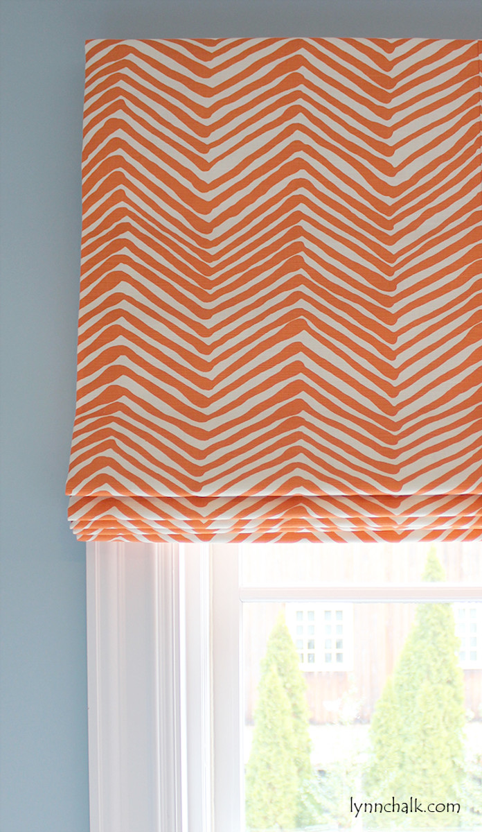 Quadrille Alan Campbell Zig Zag Roman Shade (shown in Orange-Comes in 14 Colors)