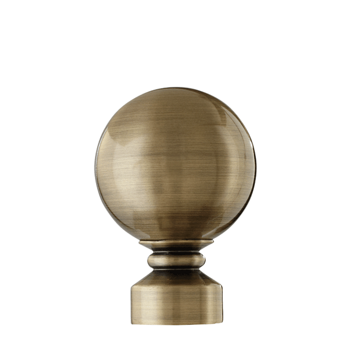 Ball Finial in Antique Brass