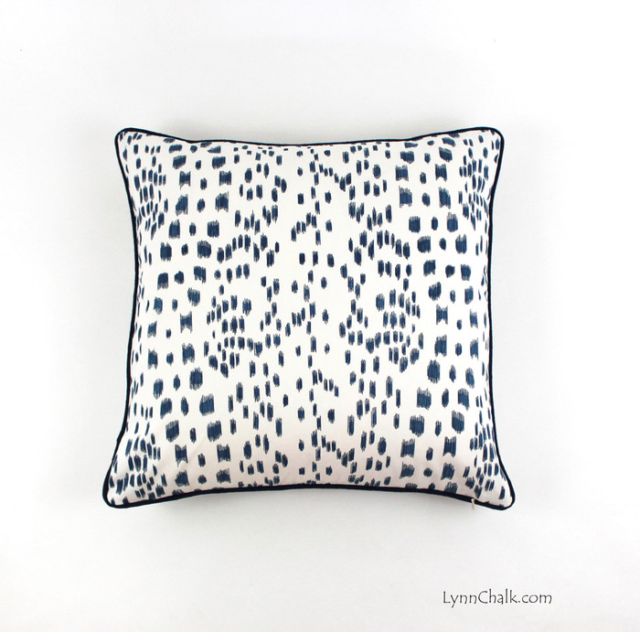 Les Touches in Blue with contrasting Navy Welting (20 X 20)