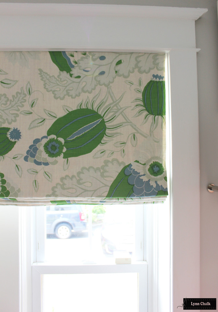Christopher Farr Carnival Roman Shades (shown in Green-comes in several colors)