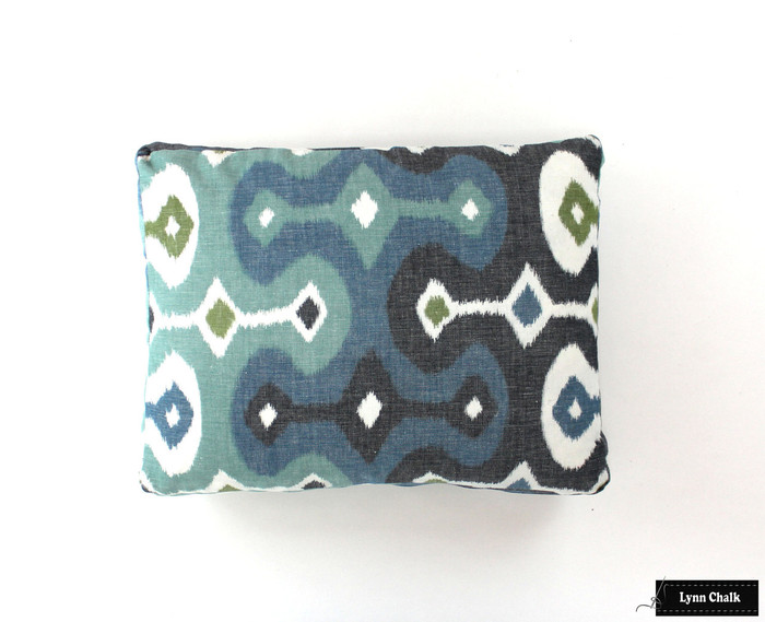 Martyn Lawrence Bullard Darya Ikat in Sky on Pillow