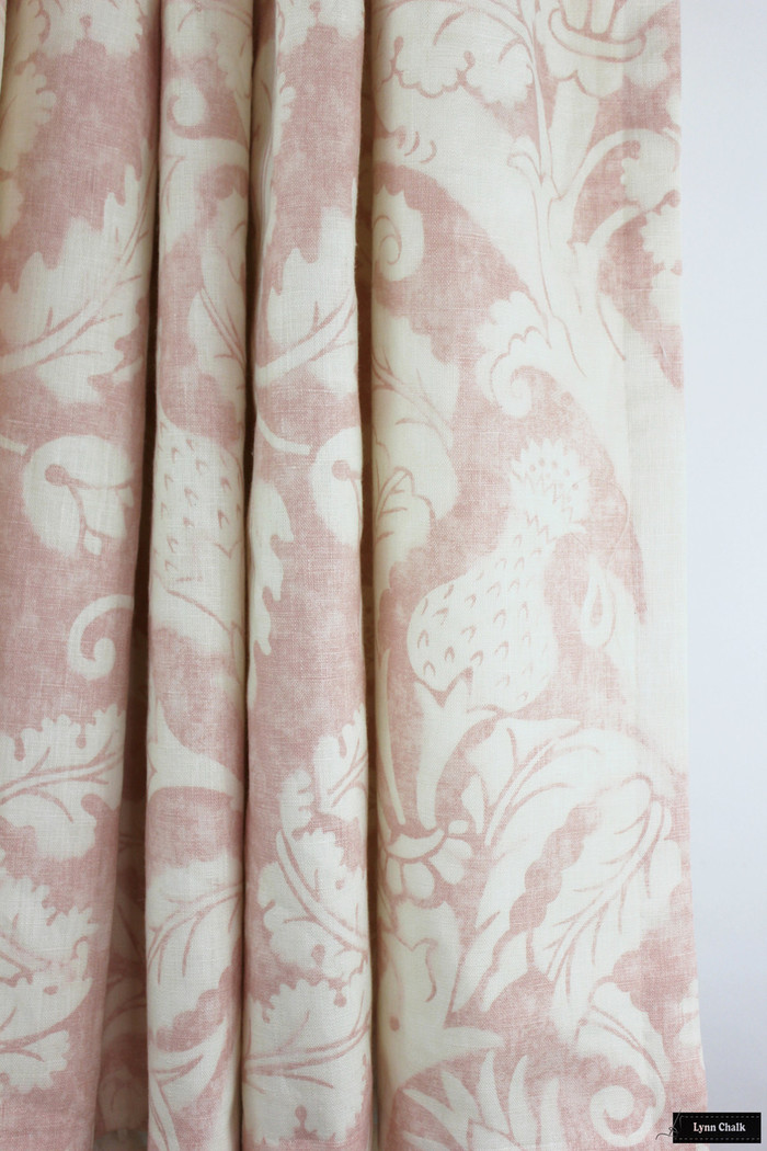 Schumacher Mary McDonald Villa De Medici Blush Drapes