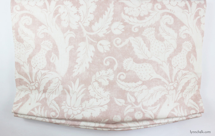Relaxed Roman Shade in Villa De Medici in Blush Conch