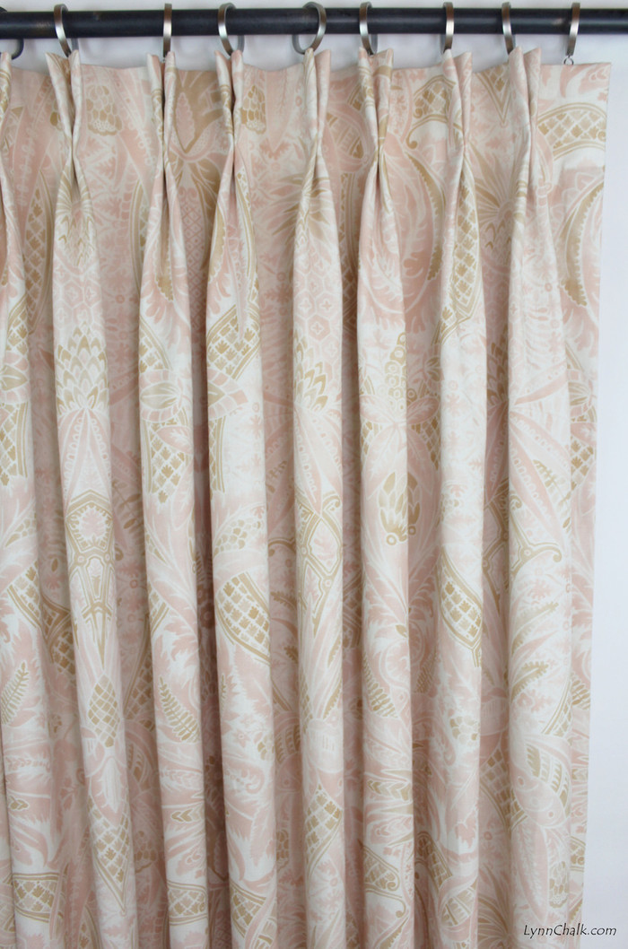 Custom Drapes in Cap Ferrat Blush