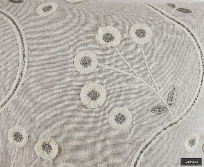 Thibaut Anna French Olympus Embroidery in Natural Glimmer AW9100