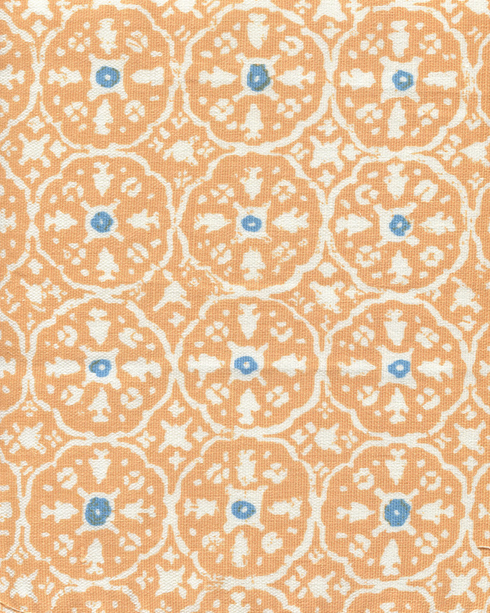 Apricot Bali Blue on White  149-75