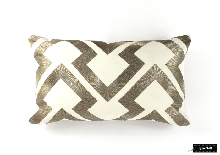 Pillow in Lightning Bolt in Antique 8014121 411 (14 X 24)