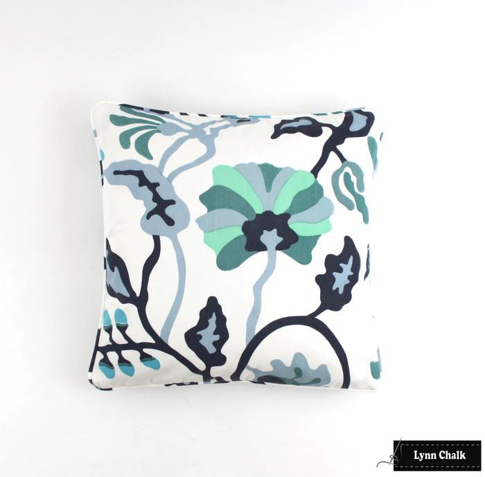 Quadrille Alan Campbell Potalla Custom Pillows (shown in Multi Blues)