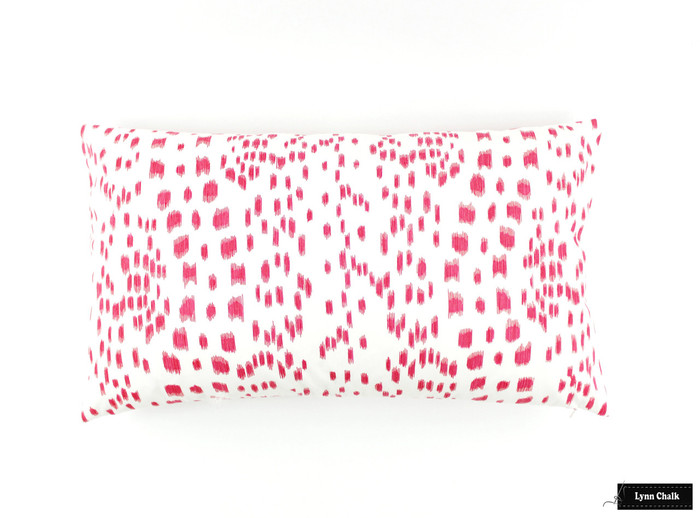 ON SALE Brunschwig & Fils/Lee Jofa Les Touches Pink Pillows (14 X 24) Only 1 Pillow Remaining At This Sale Price