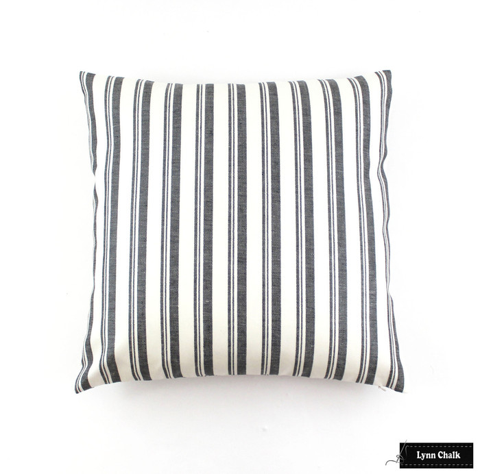 ON SALE Miles Redd for Schumacher Capri 18 X18 Pillows in Black/White Both Sides (only 2 pillows remaining)