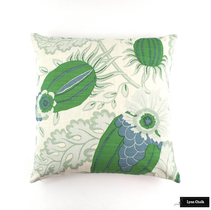 ON SALE Christopher Farr Carnival Green Knife Edge Pillows (24 X 24) Only 2 Remaining