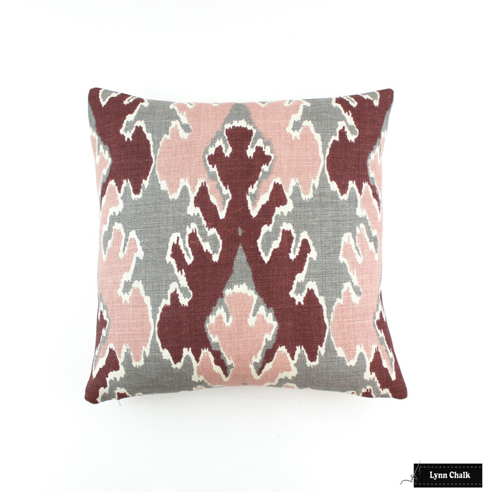 ON SALE Kelly Wearstler Bengal Bazaar Pillows in Graphite Rose (18 X 18) Only 1 Remaining This Color has been Discontinued
