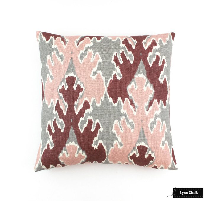 ON SALE Kelly Wearstler Bengal Bazaar in Graphite Rose Pillow (Both Sides - 20 X 20) This color is being discontinued