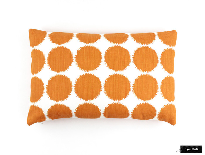 ON SALE Schumacher Fuzz 14 X 22 Pillows in Orange (Both Sides) Only 2 Pillow Remaining at this Sale Price