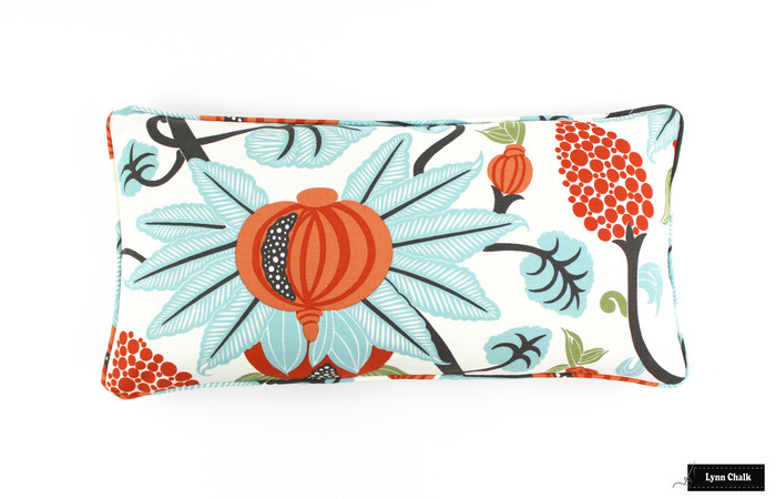 ON SALE Osborne & Little Maharani F6110-04 12 X 24 Pillow with self welting (Only 1 Pillow Remaining at this Sale Price)