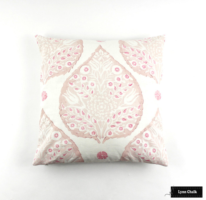 On Sale Galbraith & Paul Lotus Pillows in Custom Color Pink/Rose (20 X 20) Only 1 Remaining