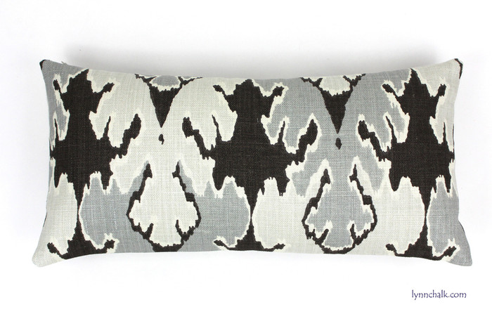 ON SALE 50% OFF Kelly Wearstler Bengal Bazaar in Graphite Pillow (Both Sides-12 X 24)  Only 2 Remaining at This Sale Price