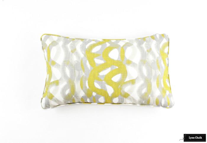 ON SALE Christopher Farr Fathom in Lemon Lumbar Pillows (14 X 24)