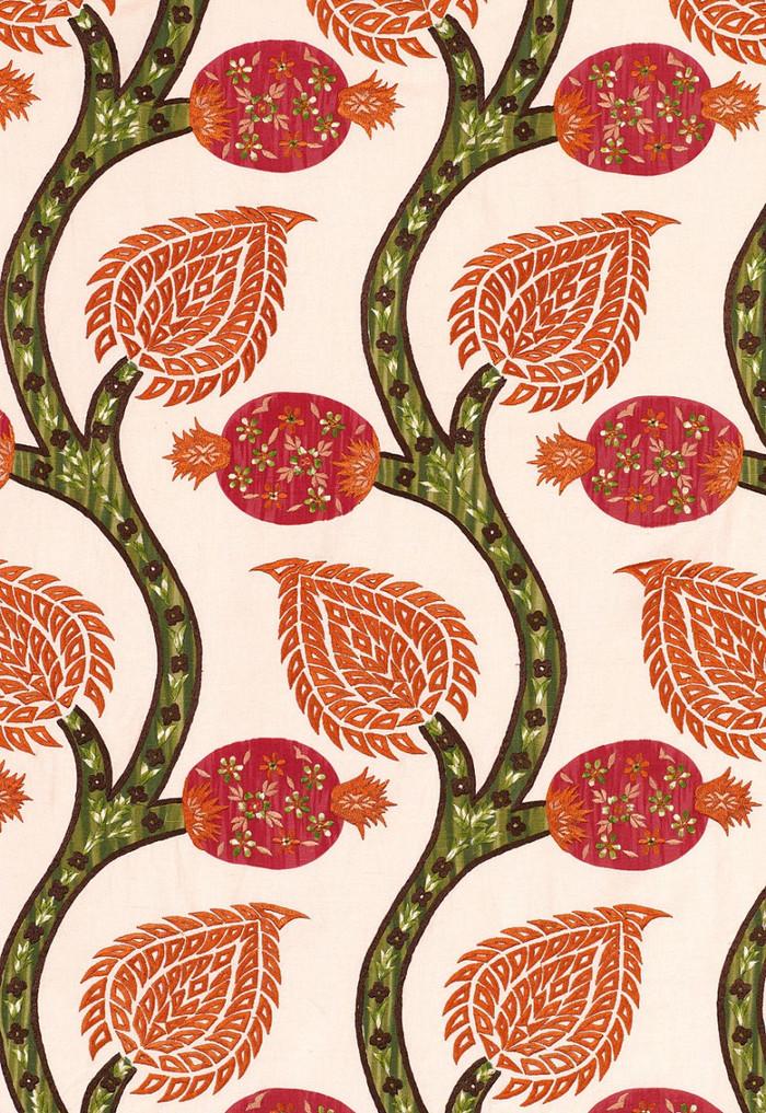 Schumacher Nurata Embroidery Coral 174180