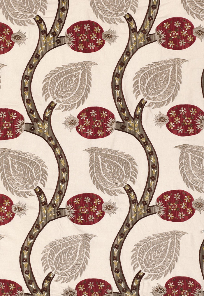 Schumacher Nurata Embroidery Stone 174182