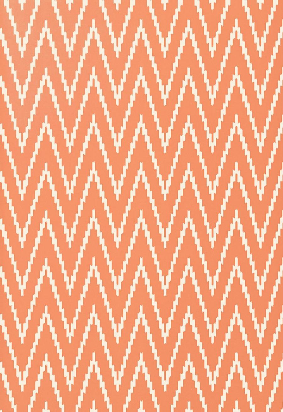 Schumacher Kasari Ikat Wallpaper Terra Cotta  5005994