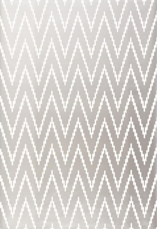 Schumacher Kasari Ikat Wallpaper Silver 5005993