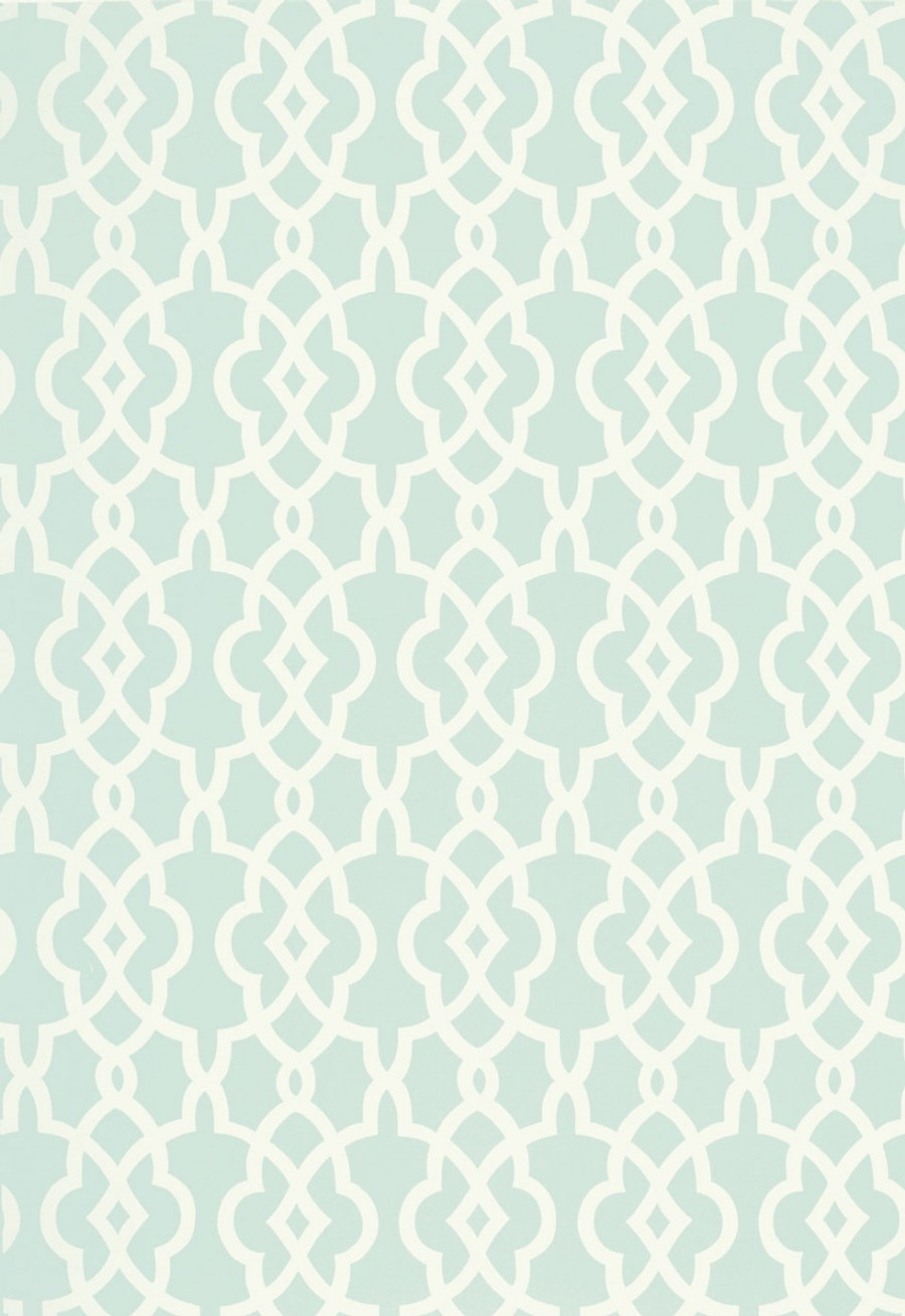 Schumacher Summer Palace Fret Wallpaper Mineral 5005143