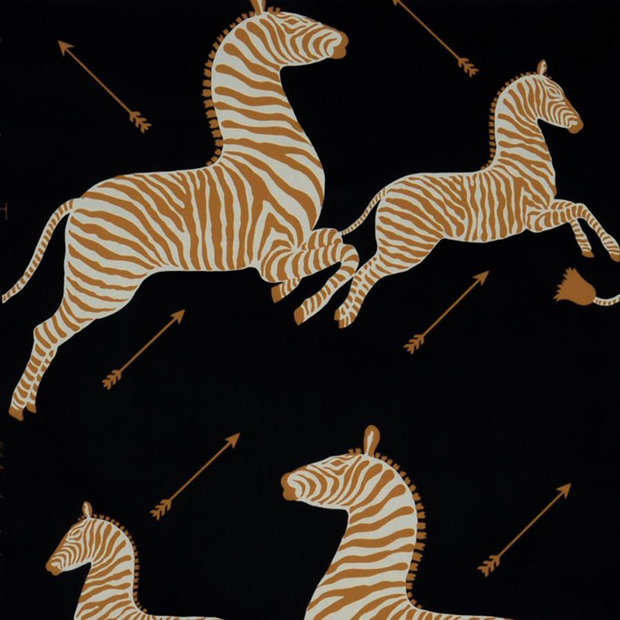 Scalamandre Zebras Wallpaper Black