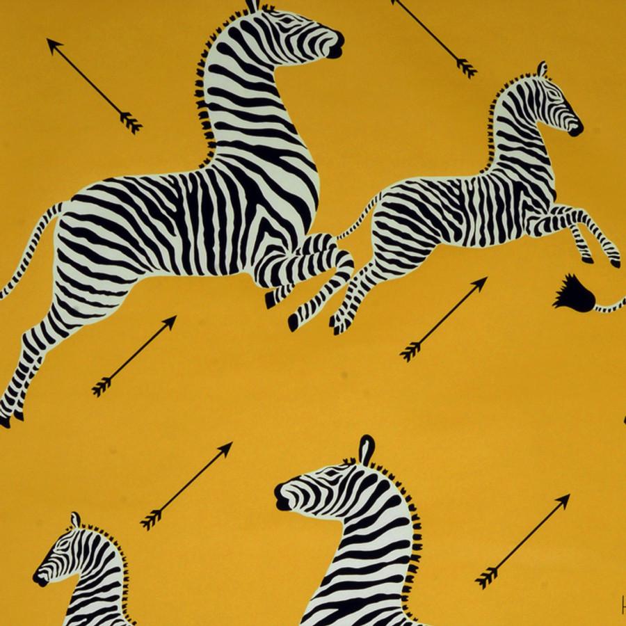 Scalamandre Zebras Wallpaper Yellow - 2 Roll Minimum Order