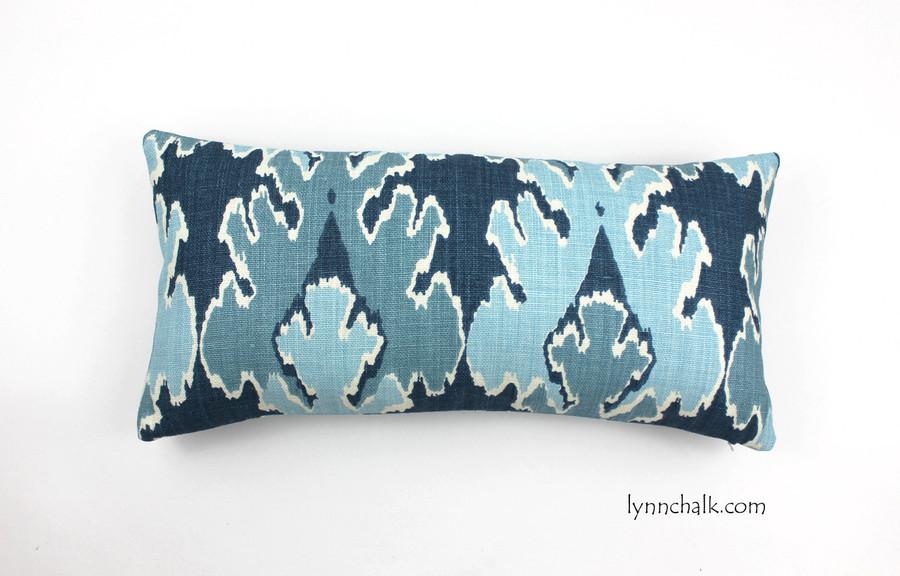 Custom Pillow by Lynn Chalk in Kelly Wearstler Bengal Bazaar in Teal (12 X 24)