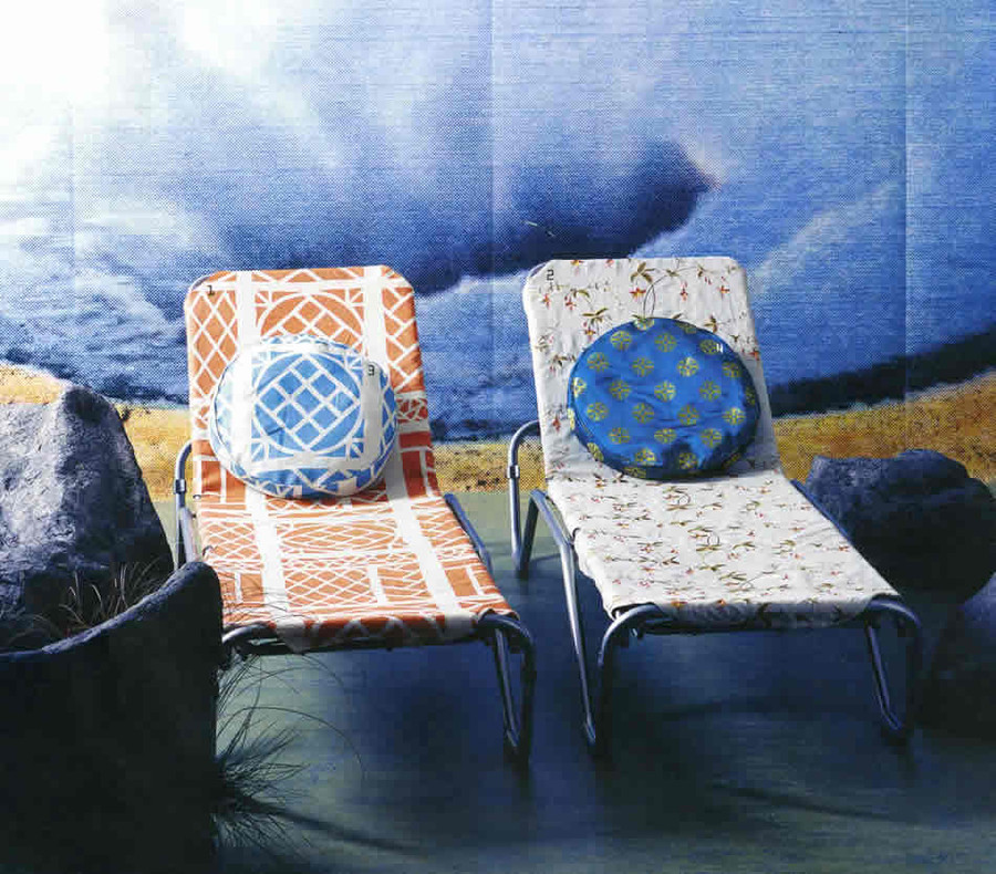 Chair is in Quadrille China Seas Trellis Background Orange on Tint 6025CU 05T (Pillow is Turquoise on Tint)