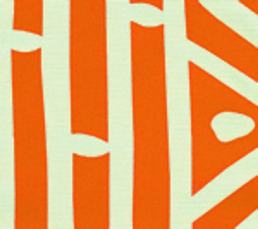 Quadrille Alan Campbell Candu Orange on White