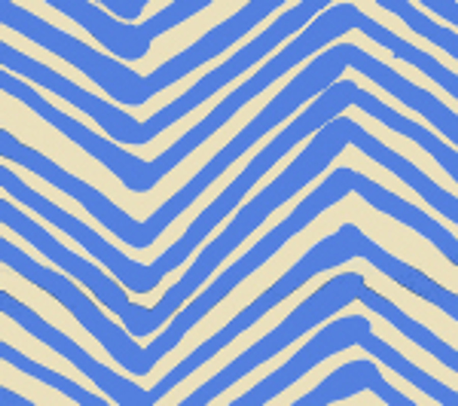 Quadrille Zig Zag in French Blue