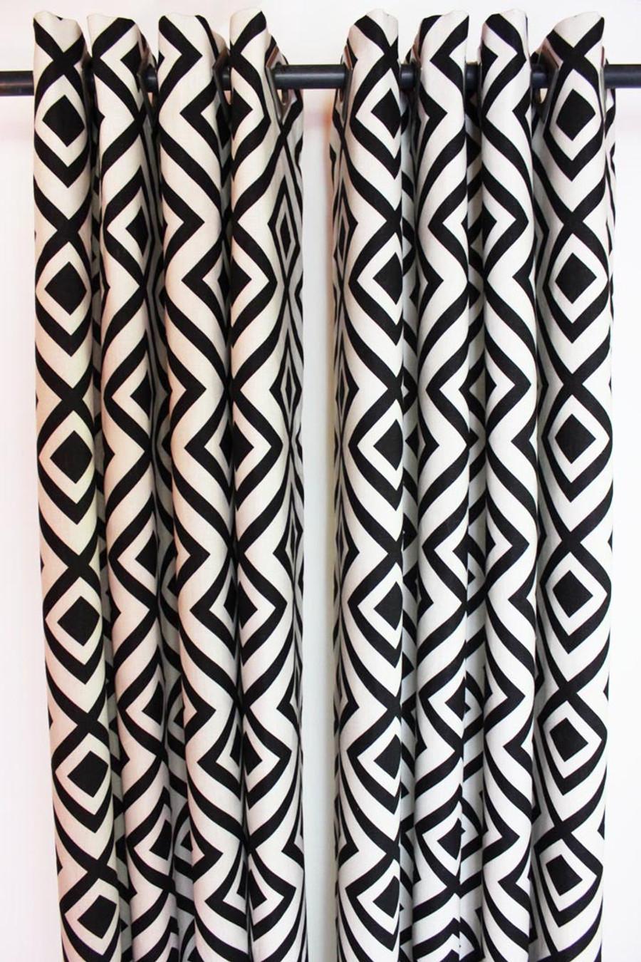 Custom Grommet Drapes by Lynn Chalk in David Hicks La Fiorentina Domino