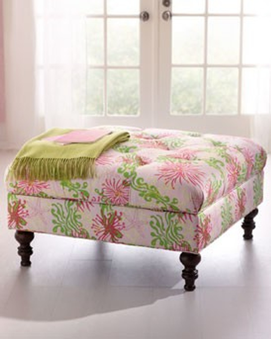 Ottoman Lilly Pulitzer Bimini in Lilly Pink