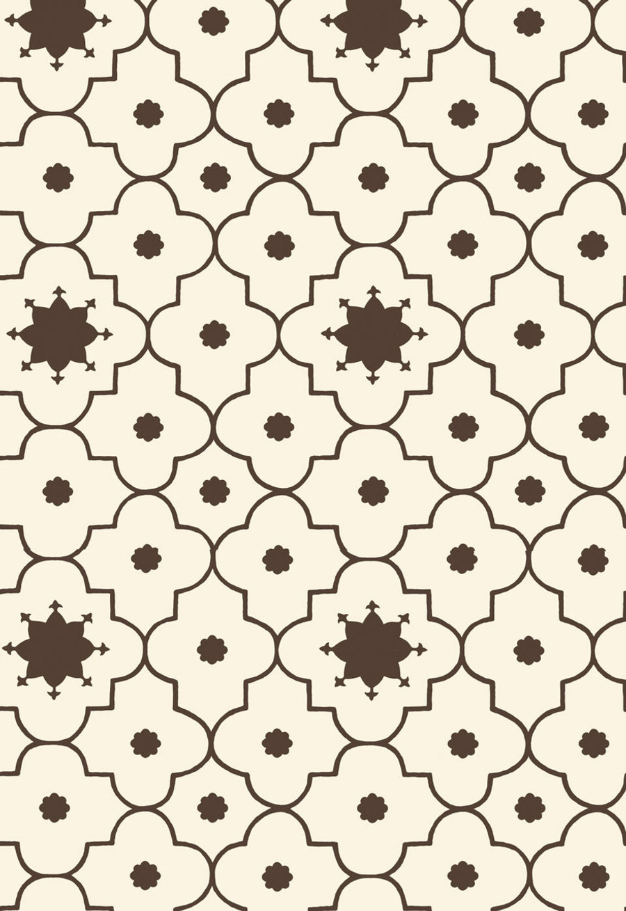 Martyn Lawrence Bullard Wallpaper Taj Trellis in Sepia