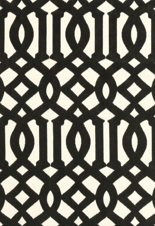 65593 Schumacher Kelly Wearstler Fabric Imperial Trellis Velvet Noir