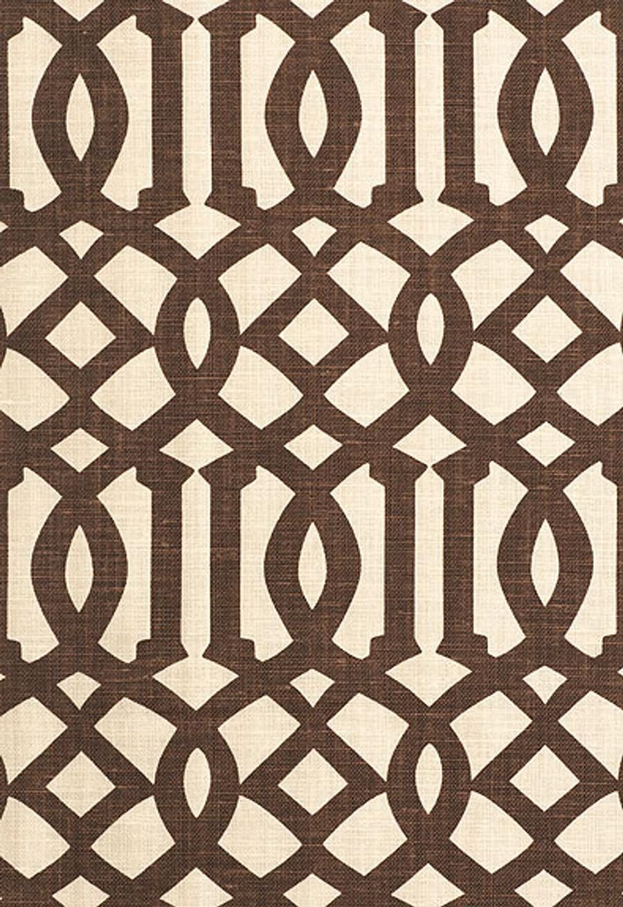 174413 Schumacher Kelly Wearstler Fabric Imperial Trellis II Java