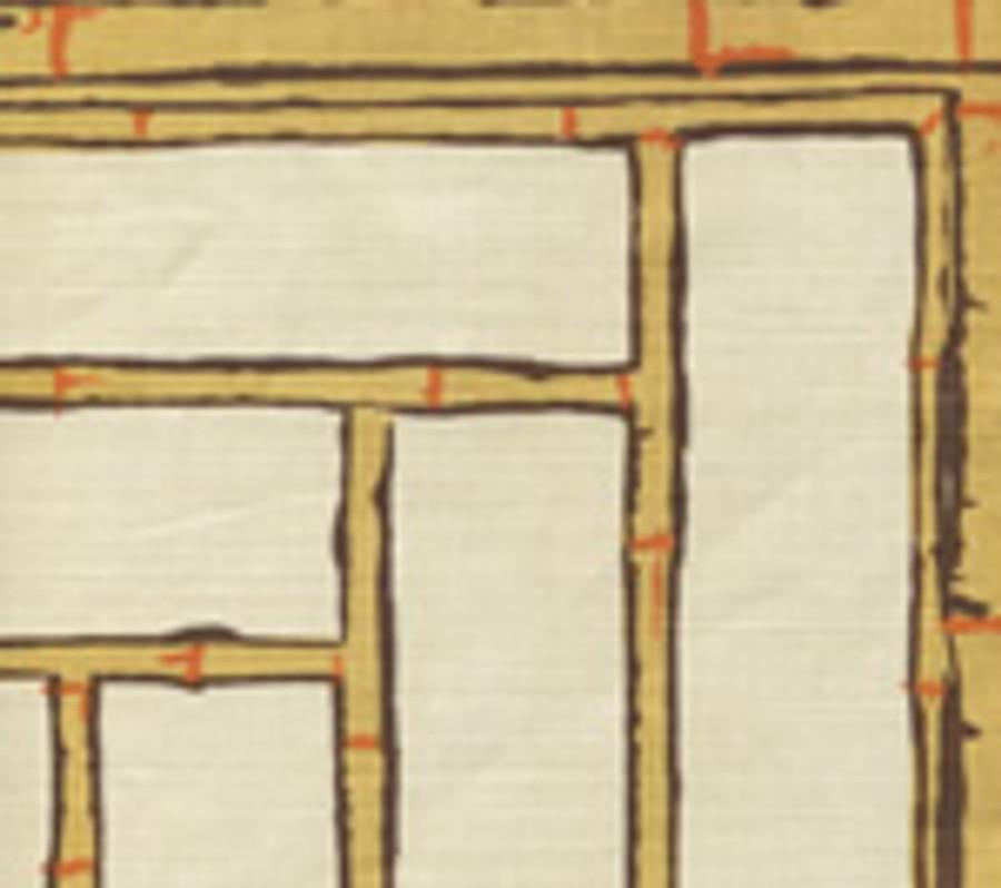 LYFORD TRELLIS   6020W 07 Beige Taupe Orange on Cream