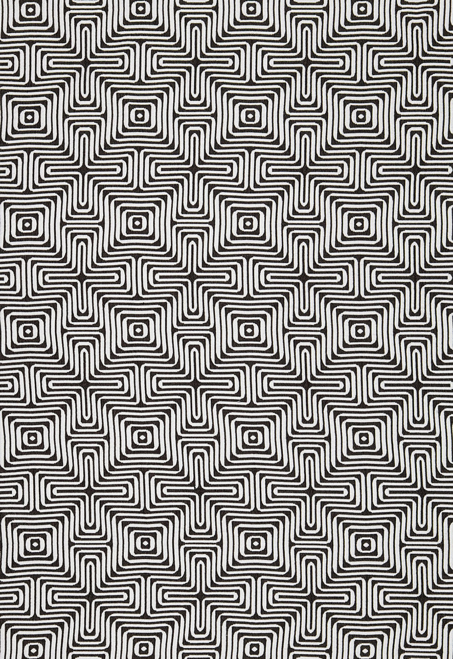 Trina Turk Amazing Maze Indoor/Outdoor in Kohl for Schumacher 65322