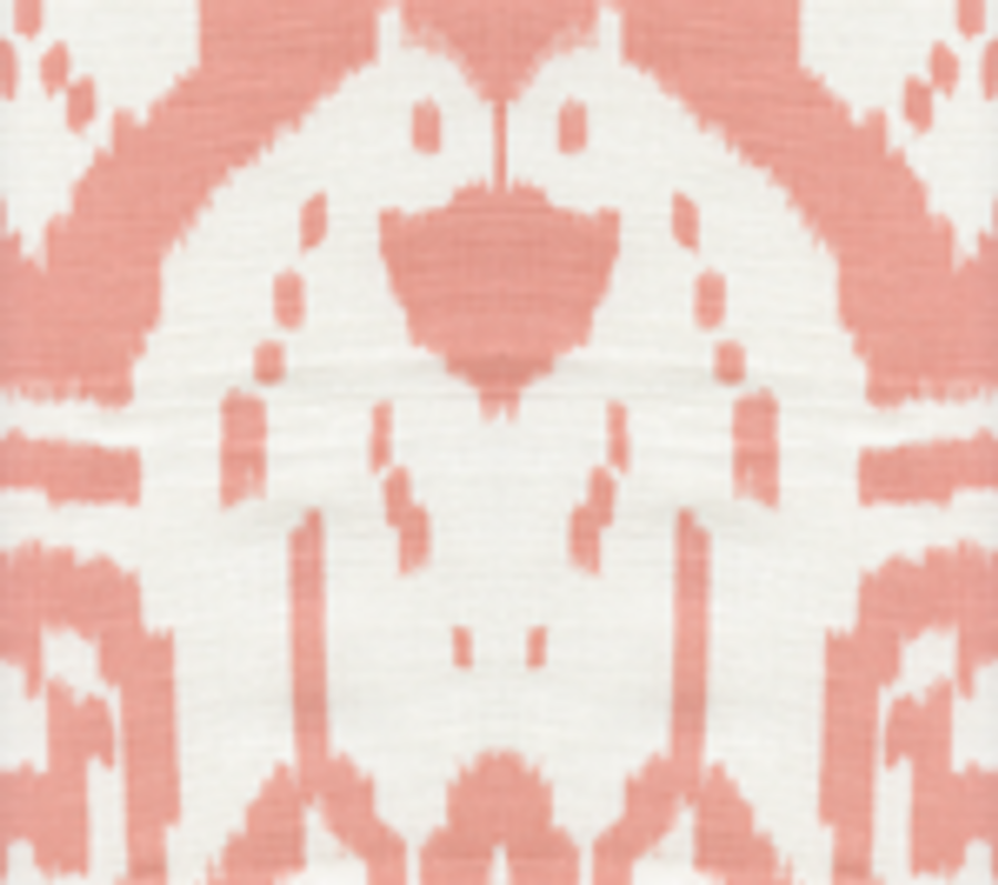 Quadrille China Seas Island Ikat Light Salmon on White