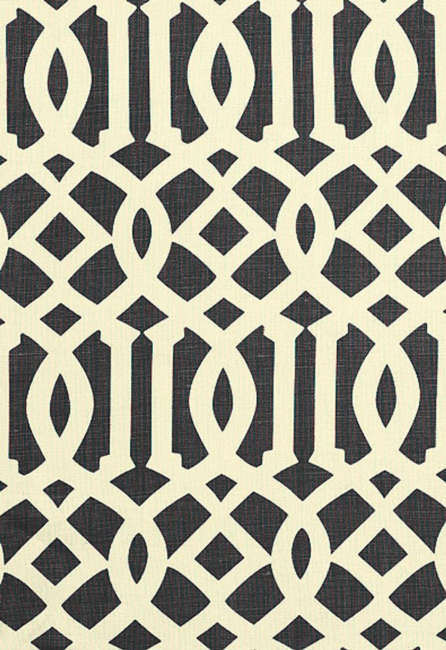 Kelly Wearstler Fabric Imperial Trellis Midnight