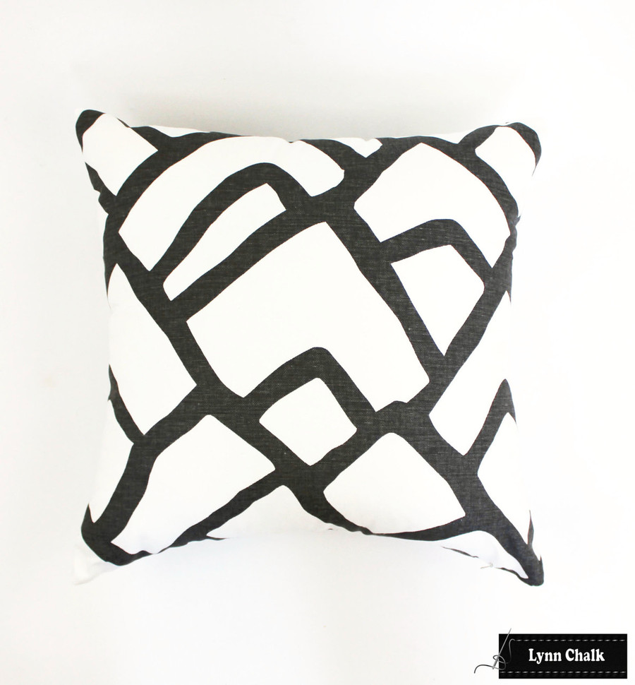 Schumacher Zimba Custom Pillows in Charcoal (Comes in other colors) 2 Pillow Minimum Order