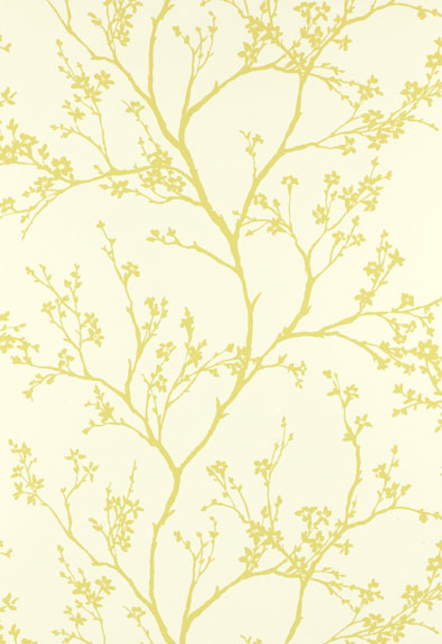 Schumacher Twiggy Wallpaper in Champagne 5003341