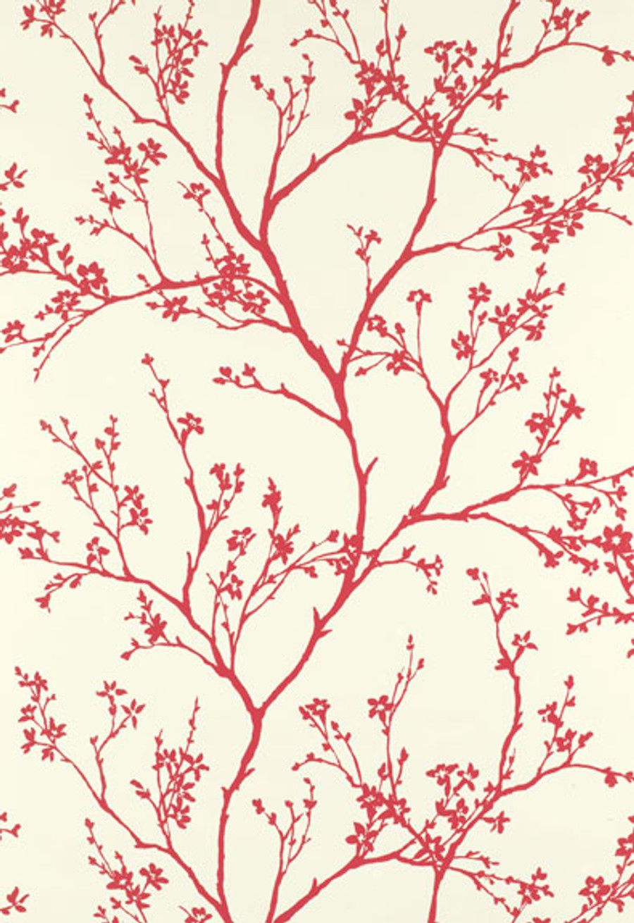 Schumacher Twiggy Wallpaper in Raspberry 5003343