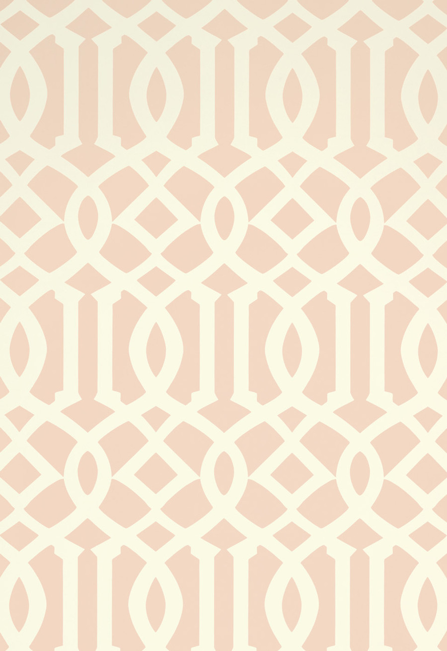 Schumacher Imperial Trellis II Blush Wallpaper 5005806