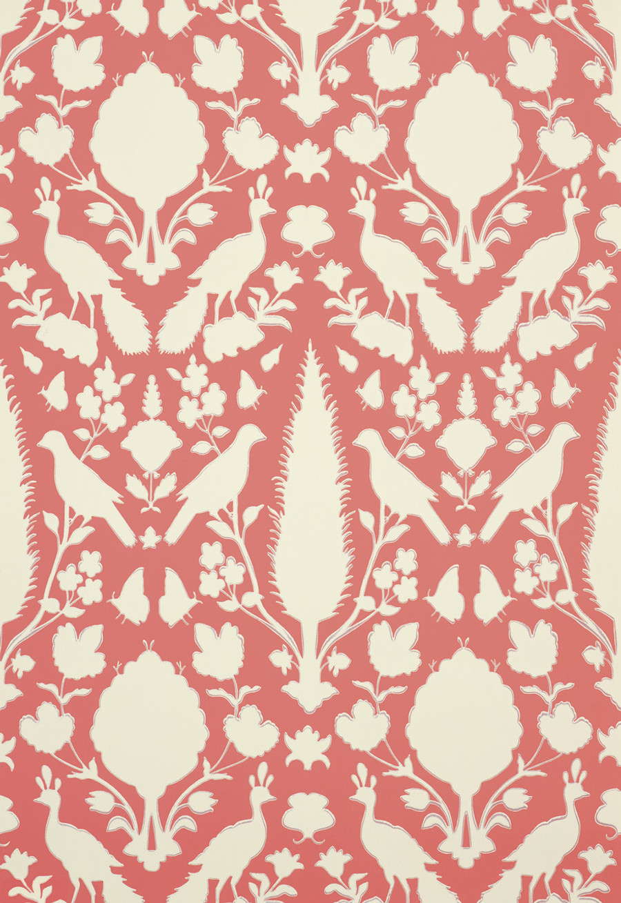 Schumacher Chenonceau Wallpaper Coral 5004125