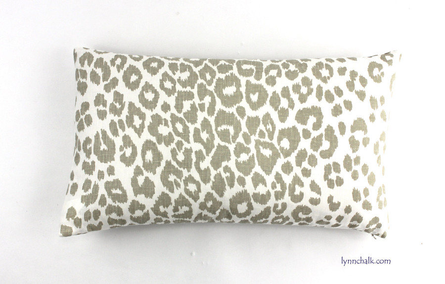 Custom 14 X 24 Knife Edge Pillow in Iconic Leopard in Linen