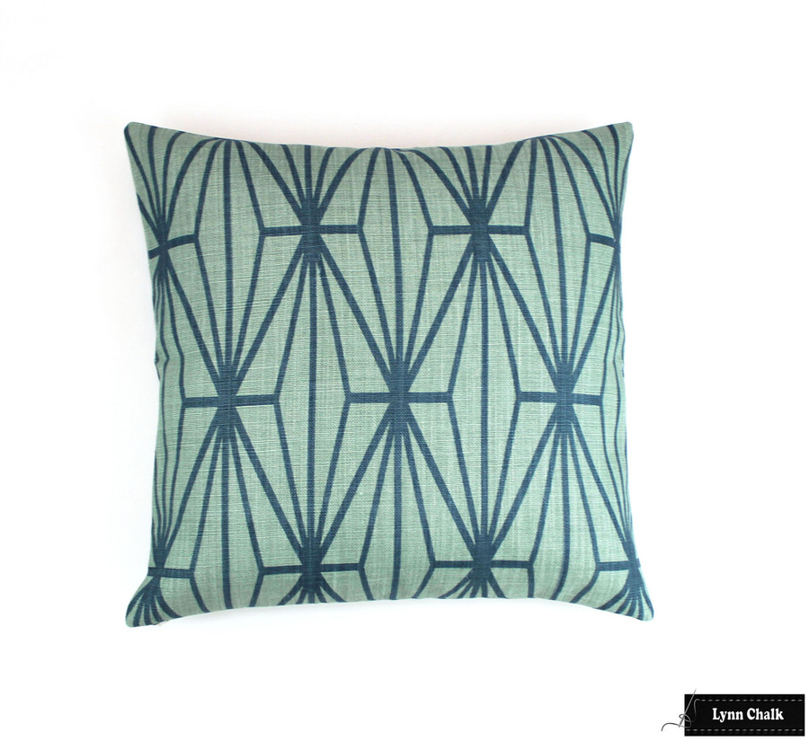 Kelly Wearstler Katana Custom Pillows in Ivory Ebony