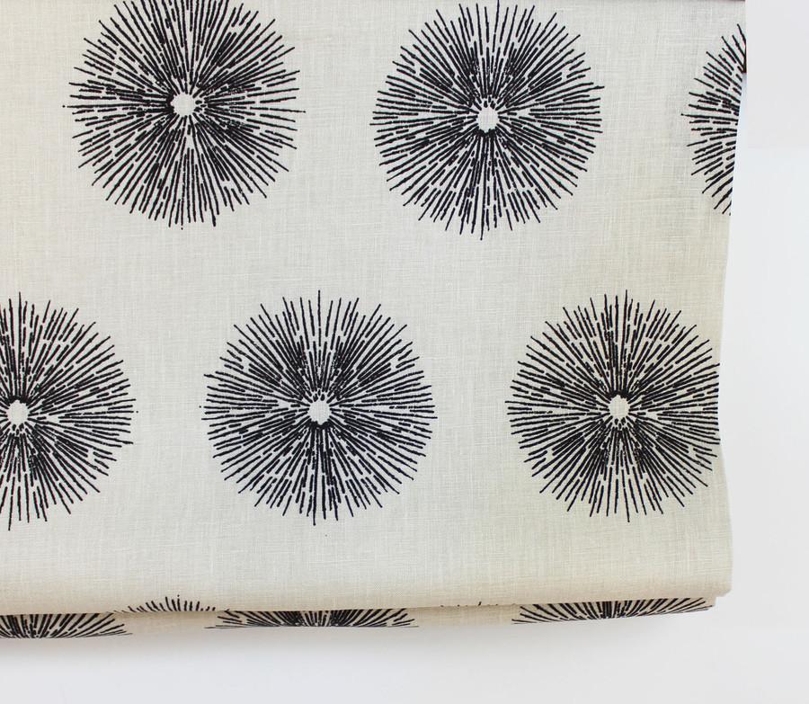 Custom Roman Shade by in Kelly Wearstler Sea Urchin in Ebony/Ivory